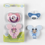 Disney Baby Pacifier & Holder Bpa Free 0+m