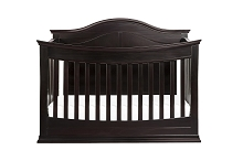 DaVinci Meadow 4-in-1 Convertible Crib with Toddler Bed Conversion Kit in Dark Java