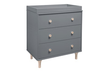 Babyletto Lolly 3-Drawer Changer in Grey-Washed Natural