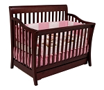 Million Dollar Baby Marlowe 4-in-1 Convertible Crib in Cherry