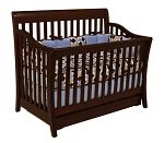 Million Dollar Baby Marlowe 4-in-1 Convertible Crib in Espresso