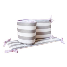 My Baby Sam Chevron Baby in Pink Crib Set Bumper