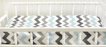 My Baby Sam Chevron Baby in Aqua Changing Pad Cover