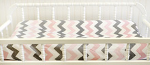 My Baby Sam Chevron Baby in Pink Changing Pad Cover