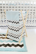 My Baby Sam Chevron Baby in Aqua Hamper