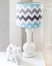 My Baby Sam Chevron Baby in Aqua Lamp