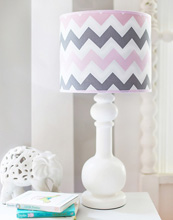 My Baby Sam Chevron Baby in Pink Lamp