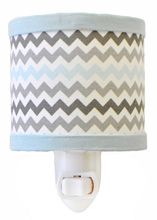 My Baby Sam Chevron Baby in Aqua Night Light