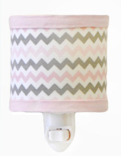 My Baby Sam Chevron Baby in Pink Night Light