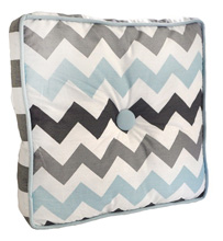 My Baby Sam Chevron Baby in Aqua Throw Pillow