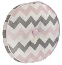 My Baby Sam Chevron Baby in Pink Throw Pillow