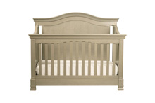Million Dollar Baby Classic Louis 4 in 1 Convertible Crib with Toddler Rail, Avon Gray
