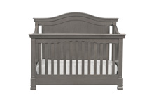 Million Dollar Baby Classic Louis 4 in 1 Convertible Crib with Toddler Rail, Manor Gray