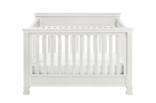 Million Dollar Baby Classic Foothill 4 in 1 Convertible Crib with Toddler Rail, Dove White