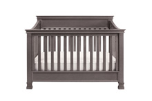Million Dollar Baby Classic Foothill 4 in 1 Convertible Crib with Toddler Rail, Weathered Gray