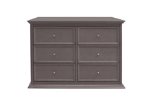 Million Dollar Baby Classic Foothill/Louis 6 Drawer Dresser, Weathered Gray