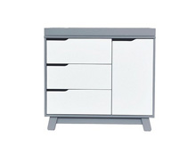 Babyletto Hudson Changer Dresser, Grey & White