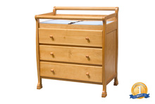 DaVinci Kalani 3 Drawer Changer Dresser in Honey Oak