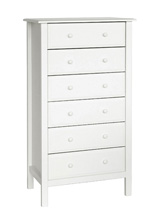 DaVinci Jayden 6 Drawer Tall Dresser, White