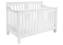 DaVinci Annabelle 4-in1 Convertible Crib in White With Toddler Rail