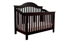 DaVinci Jayden 4-in-1 Convertible Crib with Toddler Rail, Ebony