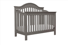 DaVinci Jayden 4-in-1 Convertible Crib with Toddler Rail, Slate