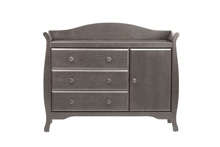 Million Dollar Baby Classic Ashbury Combo Dresser, Manor Gray
