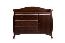 Million Dollar Baby Classic Ashbury Combo Dresser, Espresso
