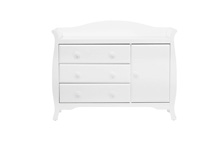 Million Dollar Baby Classic Ashbury Combo Dresser, White