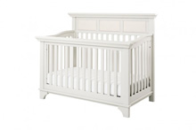 Million Dollar Baby Classic Arcadia 4 in 1 Convertible Crib with Toddler Rail, Dove White