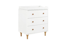Babyletto Lolly 3 Drawer Changer, White & Natural