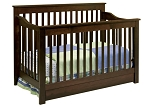 DaVinci Piedmont 4 In 1 Convertible Crib w/ Toddler Rail Espresso