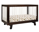 Babyletto Hudson 3 in 1 Convertible Crib in Espresso & White
