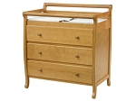 DaVinci Emily 3 Drawer Changer Dresser in Honey Oak