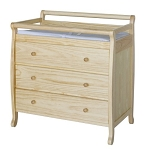 DaVinci Baby Emily 3 Drawer Changer in Natural