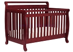 DaVinci Emily 4 in 1 Convertible Crib with Toddler Rail, Cherry