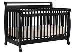 DaVinci Emily 4 in 1 Convertible Crib with Toddler Rail, Ebony