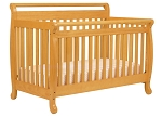 DaVinci Emily 4 in 1 Convertible Crib with Toddler Rail, Honey Oak