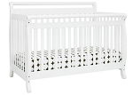 Davinci Emily 4 in 1 Convertible Crib with Toddler Rail, White