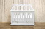 Franklin & Ben Mason 4-in-1 Convertible Crib with Toddler Rail in White