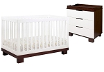 Babyletto Modo Crib & Changer in White and Espresso