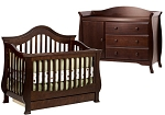 Million Dollar Baby Ashbury Crib & Combo in Espresso