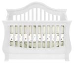 Million Dollar Baby Classic Ashbury 4 in 1 Crib with Toddler Rail, White