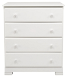Million Dollar Baby Kalani 4 Drawer Dresser in White