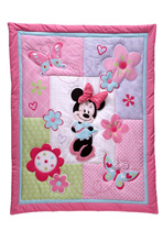 Crown Craft Disney Minnie's Garden 3-Pcs Portable Crib Set