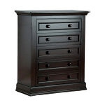 Munire Capri 5 Drawer Dresser in Dark Espresso