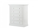 Munire Capri 5 Drawer Dresser in White