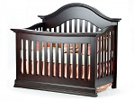 Munire Capri Arch Top Lifetime Crib in Dark Espresso