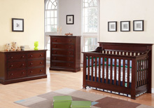 Baby Cache Covington 3 Piece Set - Crib, 5 Drawer & 6 Drawer Dresser, Cherry