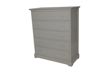 Munire Chesapeake 5 Drawer Dresser in Grey